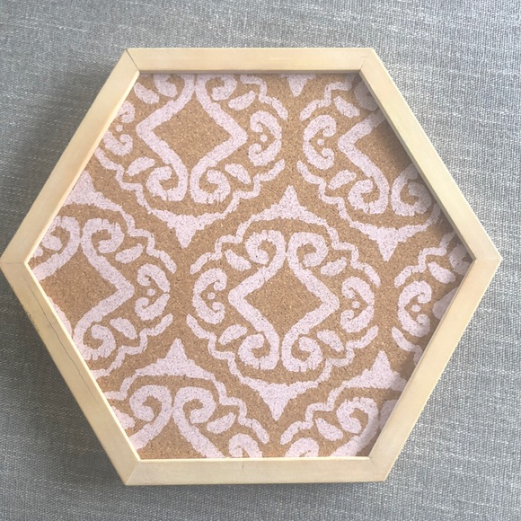 Urban outfitters Printed Hexagon Cork Board